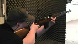 Shooting a SVT 40 rifle.