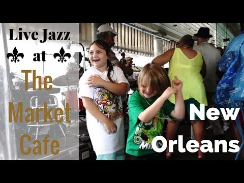 Market Cafe New Orleans | Kids Jam to Live Jazz in French Market