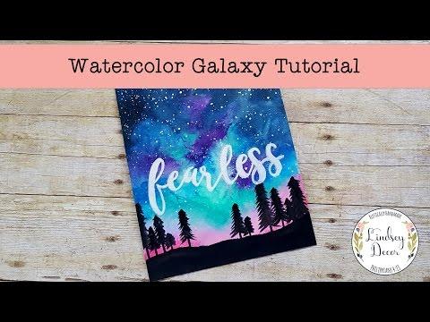 Watercolor Galaxy Tutorial