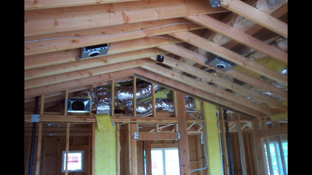 Cathedral ceiling framing house for Cathedral ceiling trusses