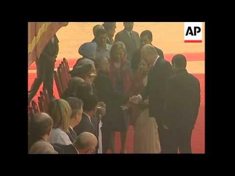 Belgium's King Albert II continues visit; ceremonial welcome, meets PM