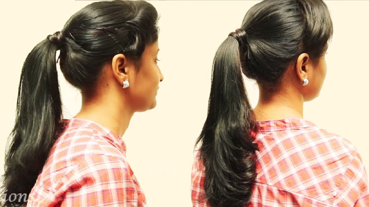 Ponytail Hairstyle For Long Hair Girls Ladies Hairstyle Tutorials