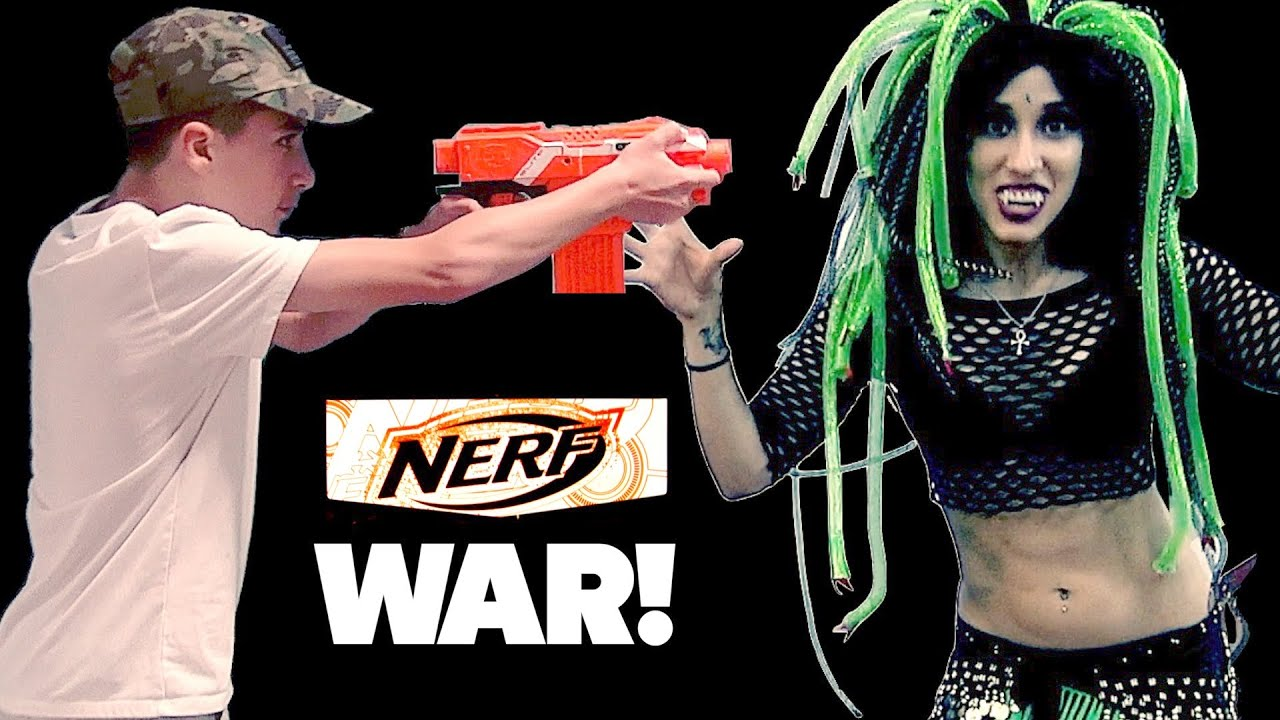 Nerf War at the mall. - YouTube
