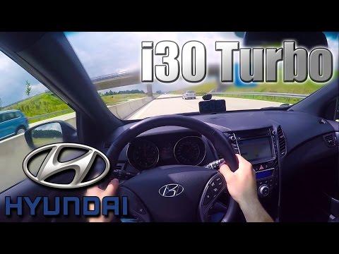 2016 Hyundai i30 Turbo (0- 210 Km/h) POV- Autobahn Acceleration, Top speed TEST ✔