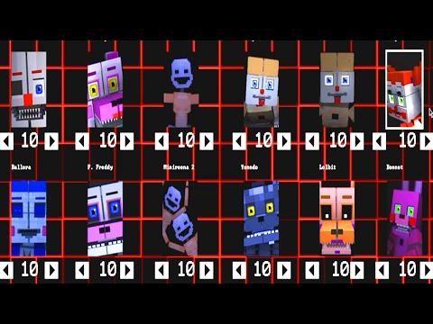 Five Nights at Freddy's: Sister Location Animatronics [Minecraft]