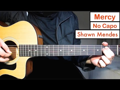 Mercy - Shawn Mendes | Guitar Lesson (Tutorial) EASY Chords - YouTube