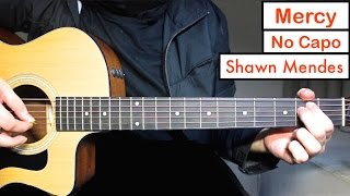 mercy shawn mendes guitar lesson tutorial easy chords