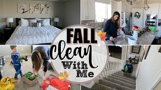 FALL POWER HOUR CLEAN WITH ME :: EXTREME CLEANING MOTIVATION :: SAHM CLEANING ROUTINE 2018