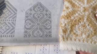 МК вязание варежек с орнаментом Часть 1
