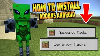 how to install addons in mcpe 0 16 0 android only minecraft pe pocket edition