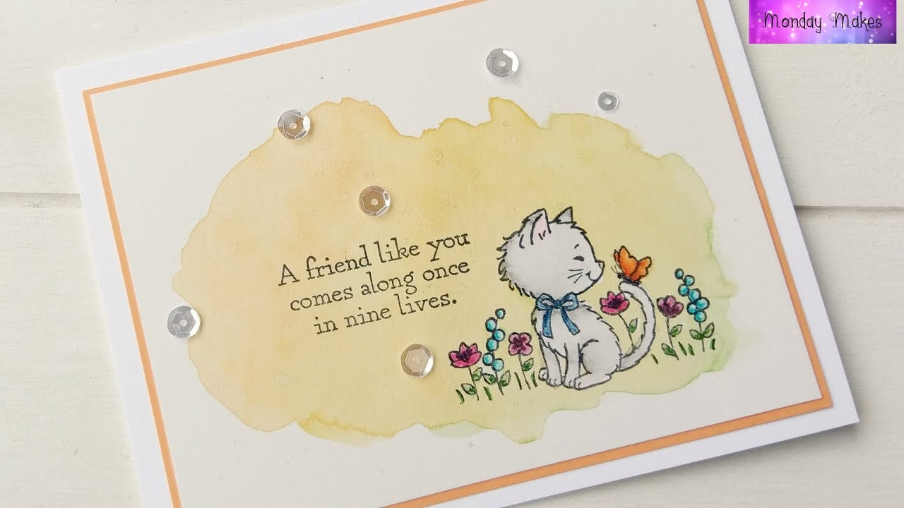 kitten card featuring stampin up products youtube