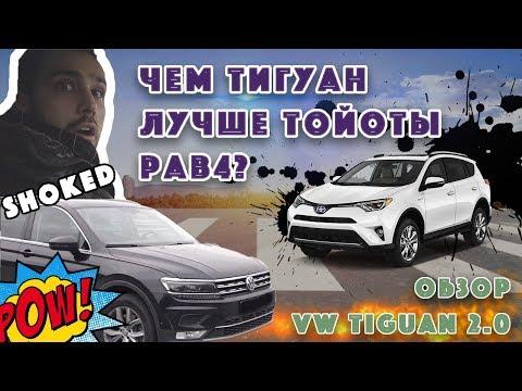 ПОЧЕМУ ТИГУАН ЛУЧШЕ РАВ4? Обзор и тест-драйв VW Tiguan.Заезд с MB W212.