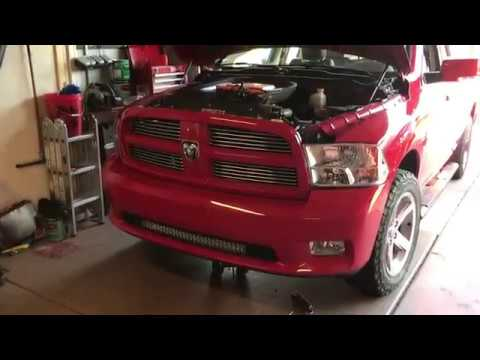 2011 Ram 1500 Bumper Light Bar Install