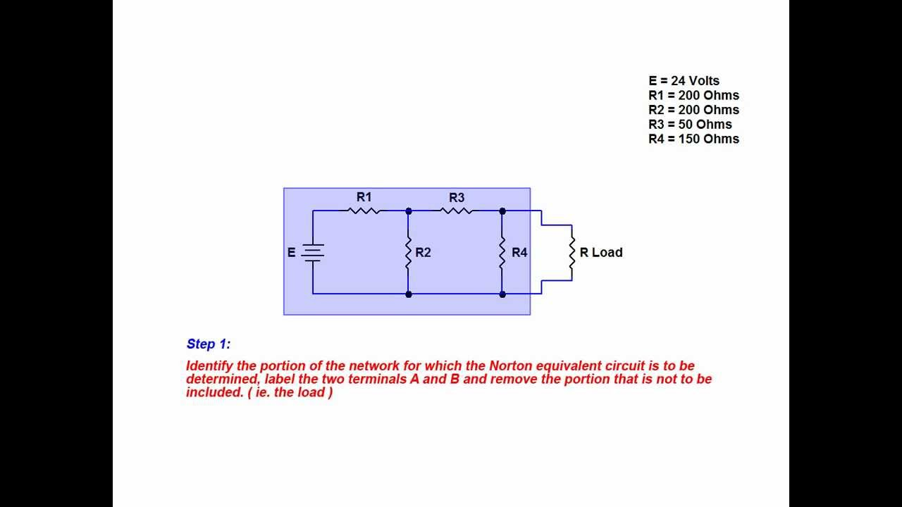 Online Tutorial On Creating A Norton Equivalent Circuit Youtube Create Circuits