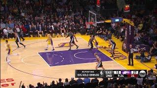 2nd Quarter, One Box Video: Los Angeles Lakers vs. San Antonio Spurs
