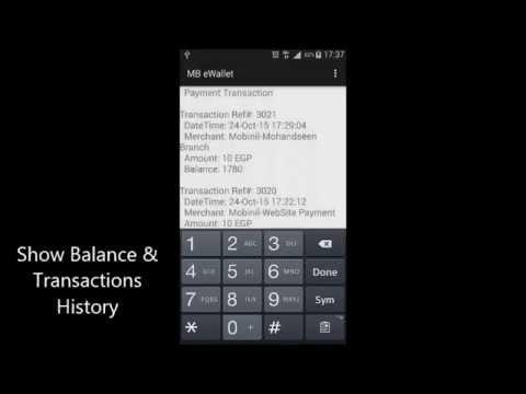 eWallet Mobile Payments