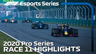 2020 F1 Esports Pro Series presented by Aramco: Race 11 Highlights