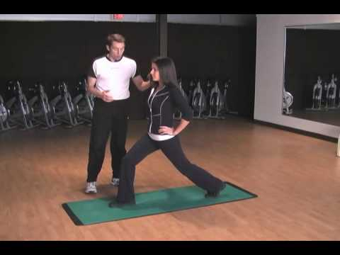 Fitness Video - Stationary Lunge