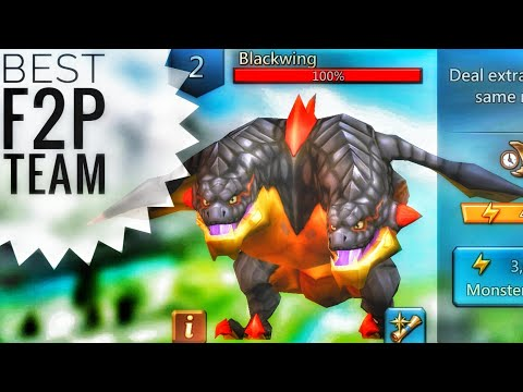 Lords Mobile - Best F2P Blackwing Monster Hunting Team