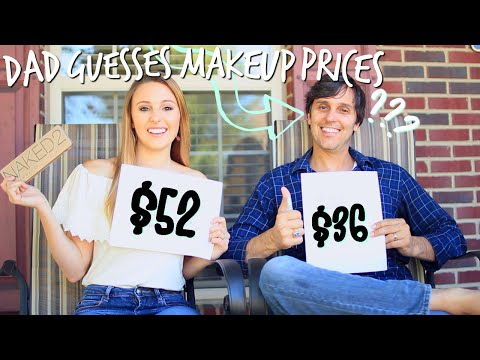 Dad Guesses Makeup Prices!