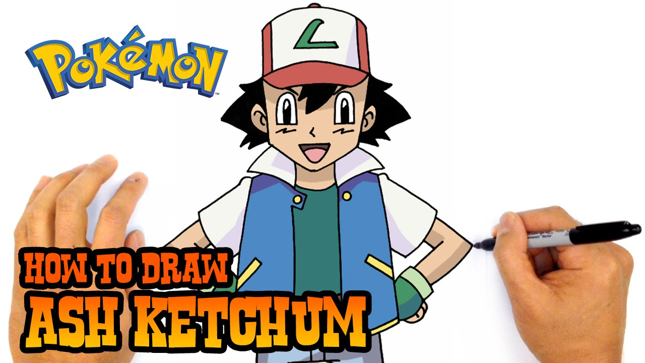 Uncategorized How To Draw Ash From Pokemon how to draw ash ketchum pokemon youtube