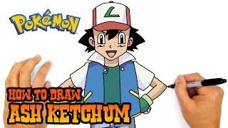 How to Draw Ash Ketchum (Pokemon)- Kids Art Lesson