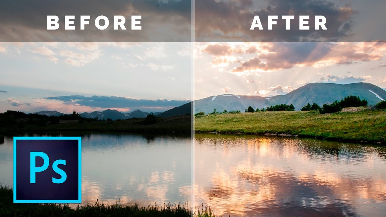 Easy photoshop landscape tutorial how to edit dark photos in easy photoshop landscape tutorial how to edit dark photos in photoshop baditri Gallery