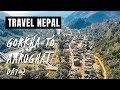 Gorkha to Aarughat For Manaslu - Day 2 - Offroad - December 2018 - Bike Trip in 2K