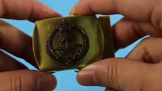 High Quality Metal Brass Military Belt Buckle For Saudi Arabia Army With Attached Logo