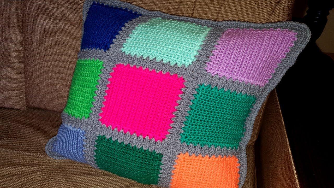 Дачное вязание чехол для подушки
