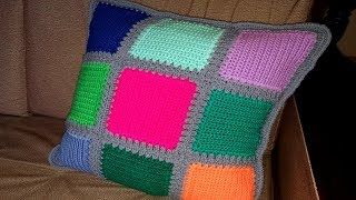 Дачное вязание чехол для подушки / Василиса