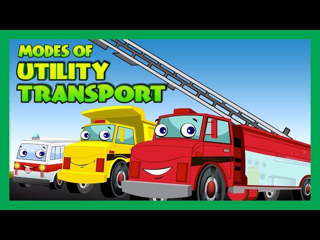 Utility Transport for Kids | Police Car, Ambulance | Kids Hut