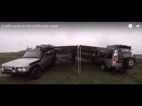 a wild camp on the north east coast