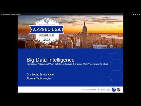 Big Data Intelligence - Ory Segal, Tsvika Klein