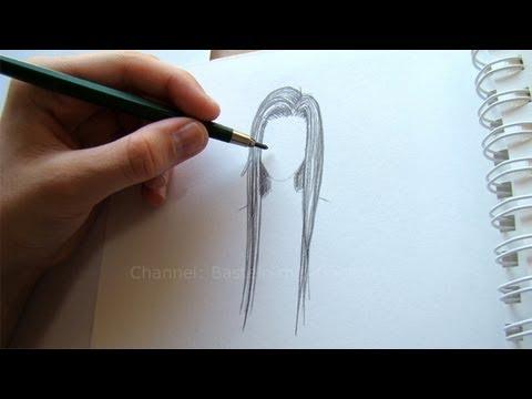Zeichnen Lernen Haare Zeichnen Einfache Frisur Malen Lernen Diy