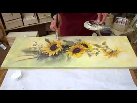 Decoupage tutorial - DIY. Decoupage on canvas. How to make canvas art.