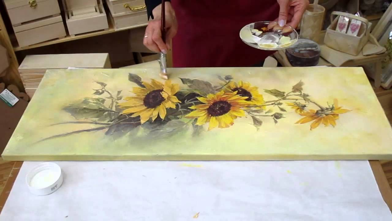 Decoupage tutorial diy decoupage on canvas how to make for Newspaper canvas art