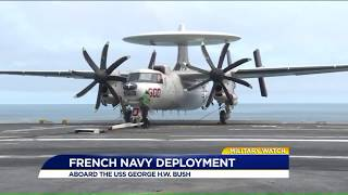 Carrier Bush with French navy, Chesapeake 2018, news report