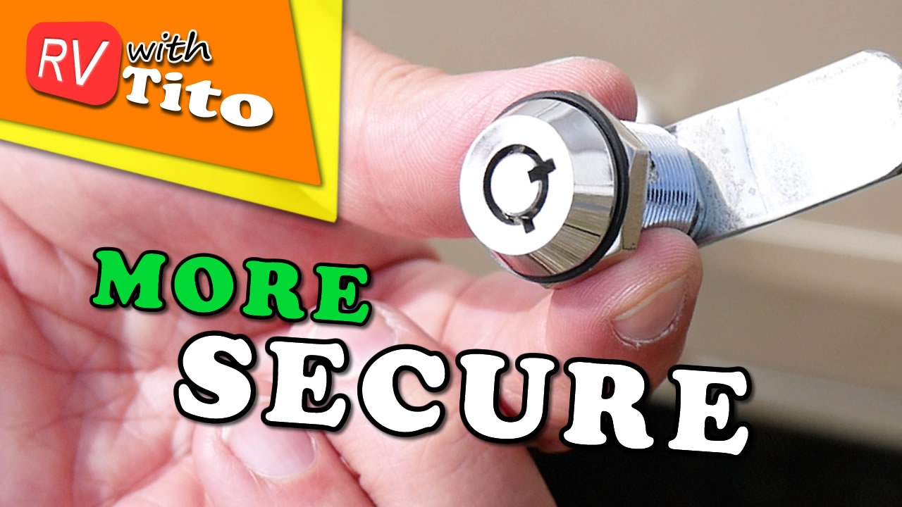 How To Replace RV Storage Locks - No More CH751 Keys