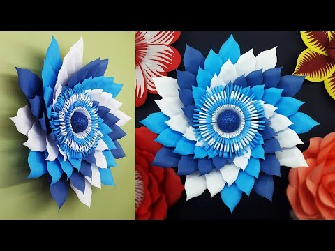 DIY-Paper Flowers Wall Decorations | Paper Flower Tutorial with Free Template