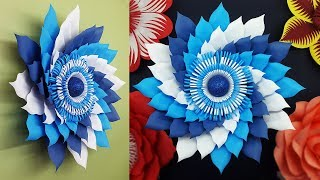 Diy Paper Flowers Wall Decorations   Paper Flower Tutorial With Free Template