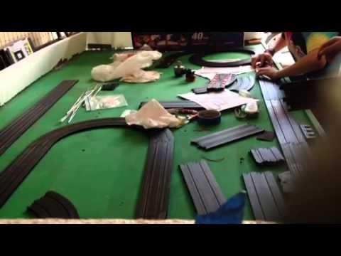 ho slot car track build youtube. Black Bedroom Furniture Sets. Home Design Ideas
