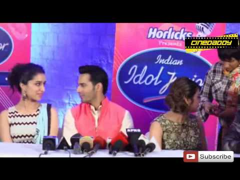 Varun Dhawan & Shradha Kapoor Promote ABCD 2 @ Indian Idol Junior 2015 Audition !