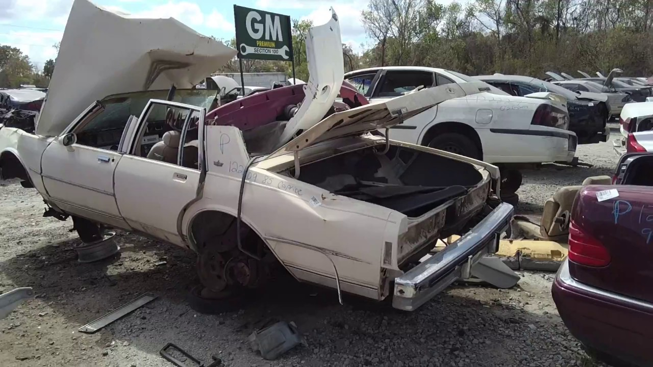 Ripped Open 85 Chevy Caprice At Cash N Carry Junkyard In Savannah