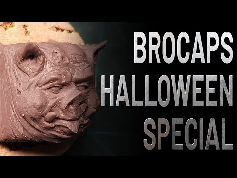 Making of Brocaps Pigboi Halloween Special - Sculpting a Keycap