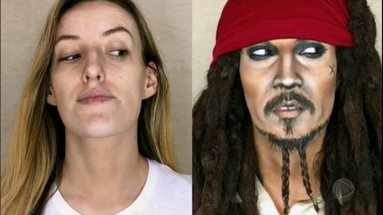 Resultado de imagem para rosto masculino com metade maquiado