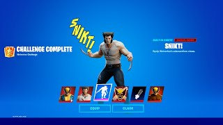 NEW Fortnite Wolverine Logan Skin Challenge