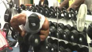 Phil Heath and Robert Burneika Arms workout in France 2017 Video