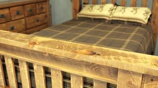 Barnwood Beds - Viking Log Furniture