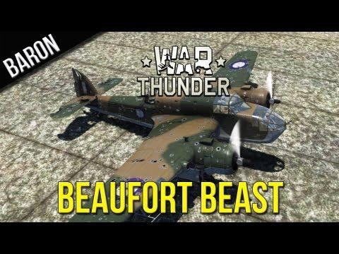 War Thunder Gameplay - Beaufort Mk VIII Bomber Beast